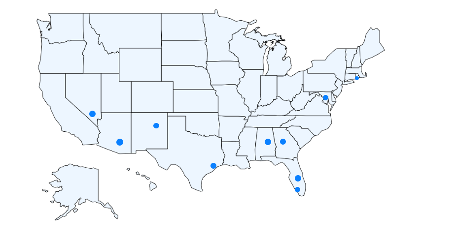 Cities with Worst Fiber internet connection